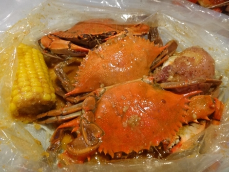 Blue Crab in Cajun Sauce