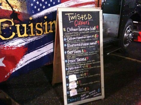 Twisted Cuban Food Truck Menu