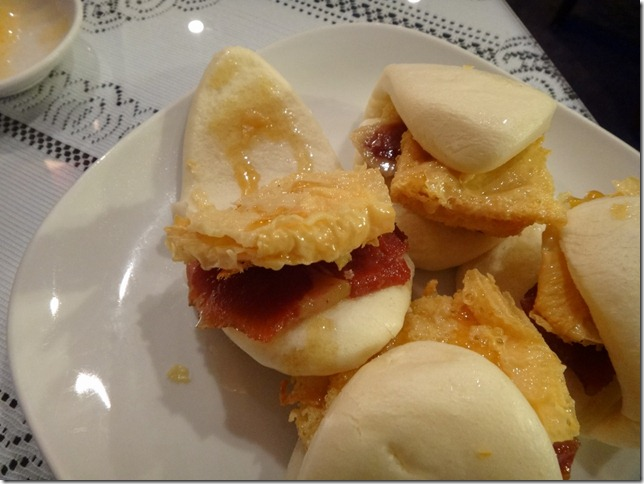 Fried Bean curd sheets and Thin sliced honey ham Sandwich with honey 2