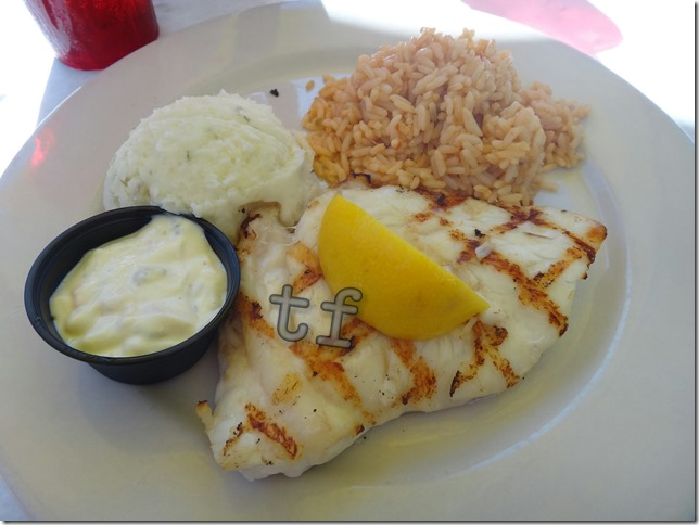 Any Fish You Wish Platter (Grouper) with Rice and Mash Potato