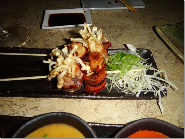 Bacon Wrapped Inoki Mushrooms