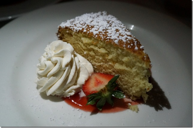White Chocolate-Buttermilk Cake, Strawberry Sauce