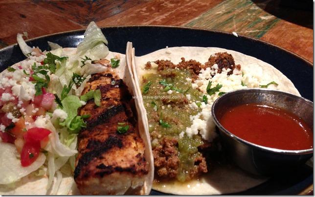 Pesca and Chorizo Tacos