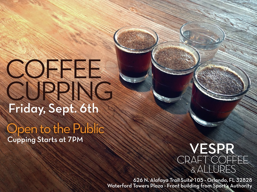new coffee shop  vespr  hosts educational coffee cupping