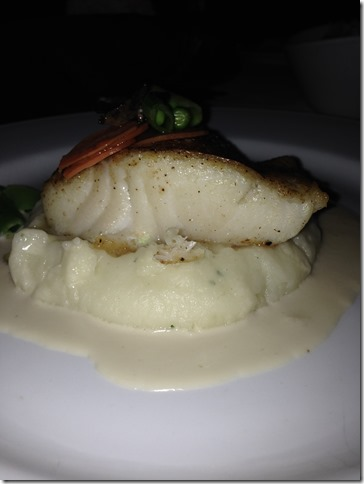 Chilean Sea Bass, Whipped Potatoes, Champagne Truffle Sauce