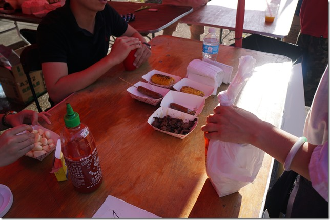 Grilled Beef, Taiwan Pork Sausage, Grilled Corn
