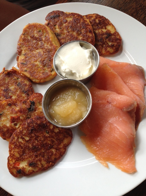 Potato Pancakes and Smoked Salmon